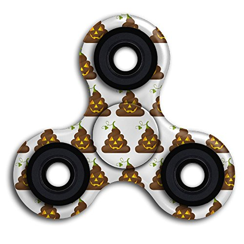 Anti-Anxiety Fidget Spinner Halloween Poop Emojis Speed Between 5-8 Minutes Spin Time Perfect For (Halloween Full Page Coloring Pages)