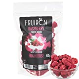 Fruiron Freeze Dried Whole Raspberries - 60 g (2.12 oz) | Pure Freeze Dried Fruit, All Natural, No Additives, Product of Canada