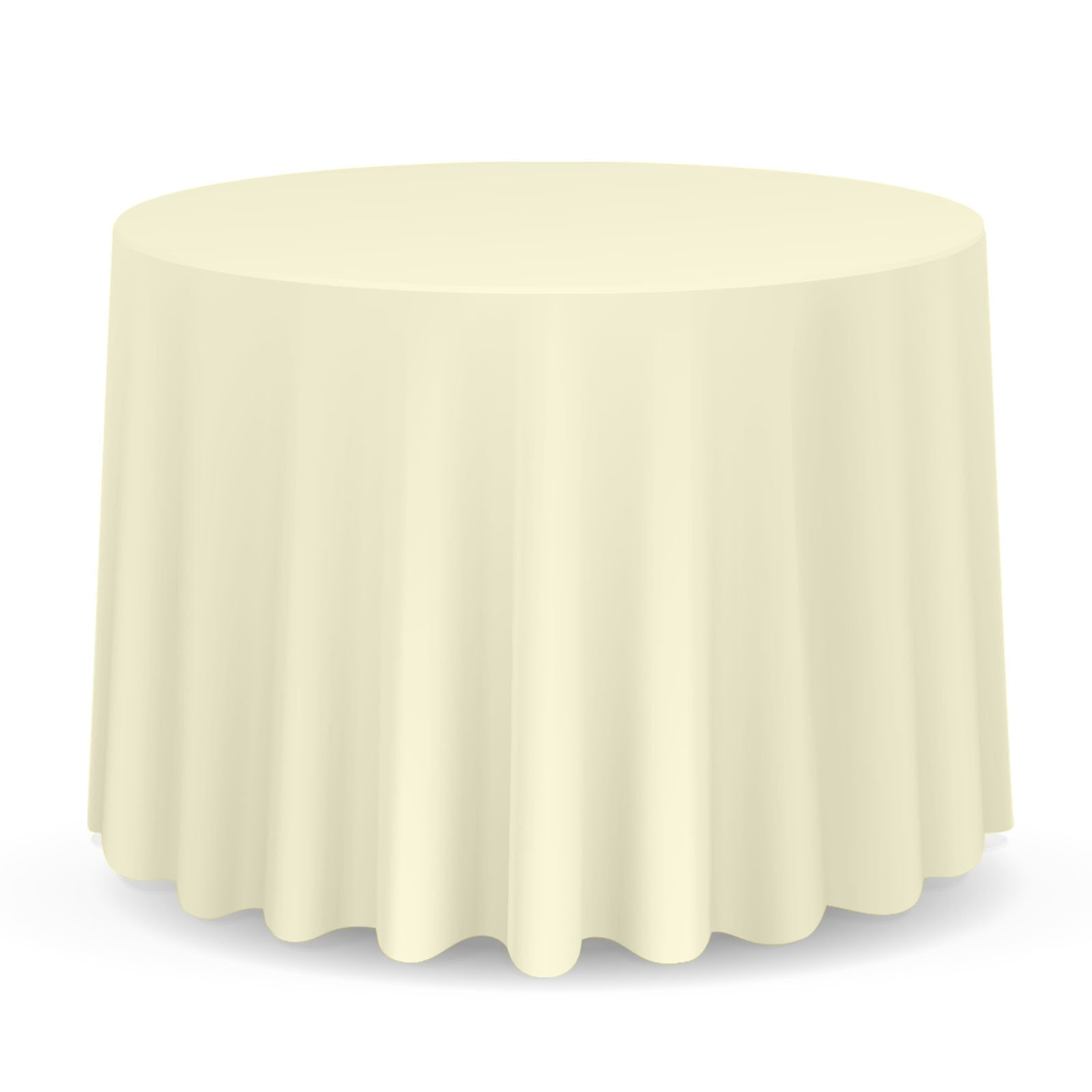 Lann's Linens - 10 Premium 120'' Round Tablecloths for Wedding / Banquet / Restaurant - Polyester Fabric Table Cloths - Ivory