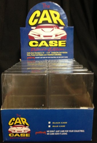 Protech Car Case Deluxe Mattel Hot Wheels, Matchbox, or Similar, Display Case, Qty. 12 12 Car Display Case