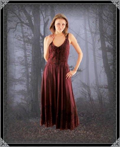 Langes Denise Gothic Blau Bäres Kleid Damen Tageskleidung PwCPEqT