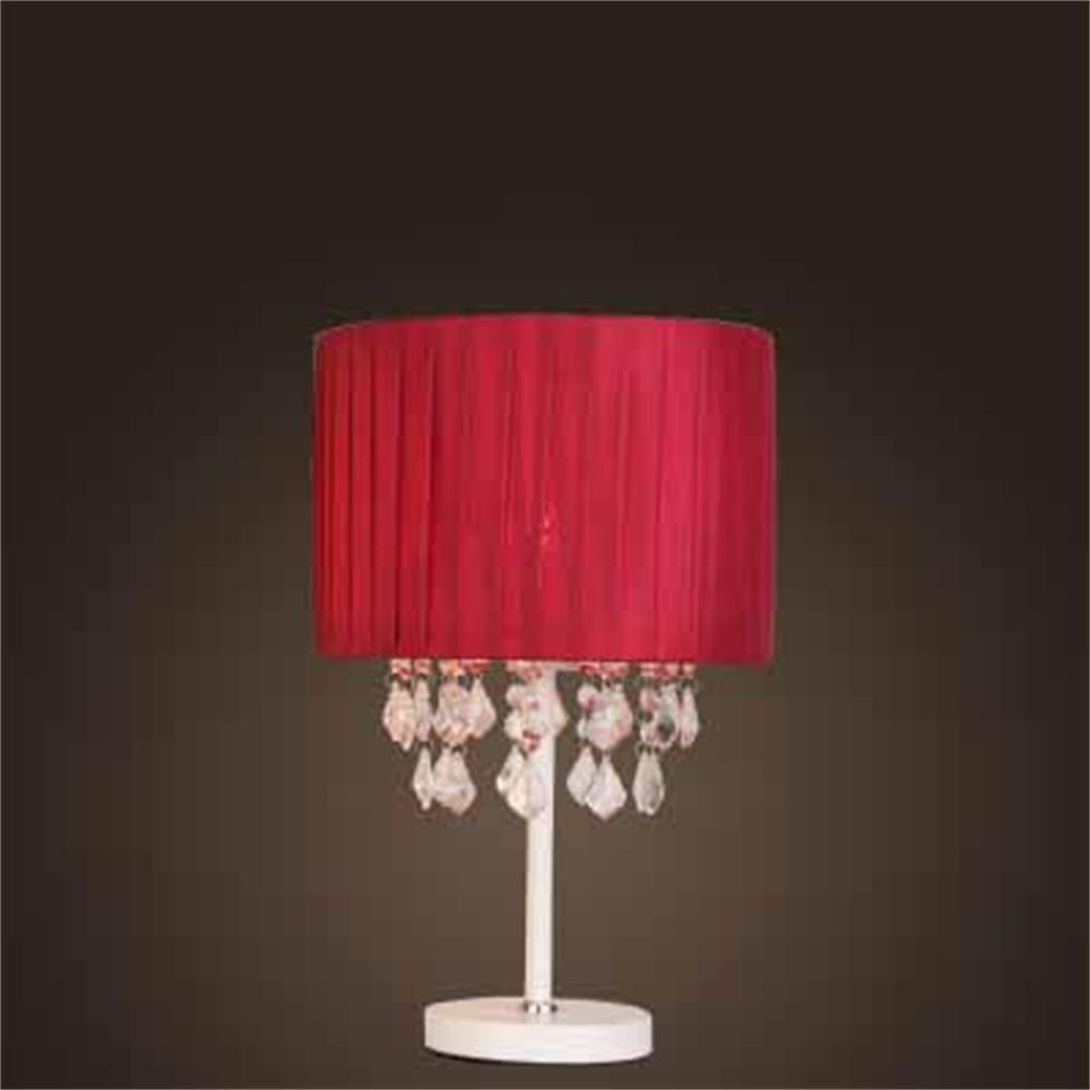 ALUK-Nice table lamp Lampada da tavolo in cristallo Lampada da tavolo in cristallo nordica europea Lampada da tavolo in cristallo (colore   Wine rosso lampshade 1 )