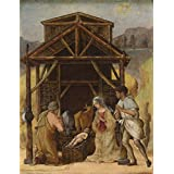 The Perfect effect canvas of oil painting 'Ercole de' Roberti The Adoration of the Shepherds ' ,size: 12 x 16 inch / 30 x 40 cm ,this High quality Art Decorative Canvas Prints is fit for Garage artwork and Home artwork and Gifts