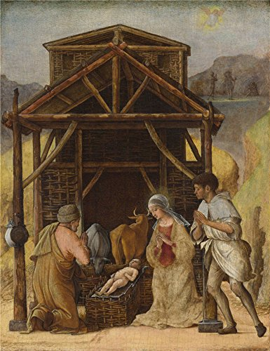Oil Painting 'Ercole De Roberti-The Adoration Of The Shepherds,1490', 8 x 10 inch / 20 x 26 cm, on High Definition HD canvas prints is for Gifts And Hallway, Kitchen - Shades Rosemary Beach