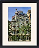 Framed Print of Casa Batllo house designed by Gaudi in Barcelona, Spain