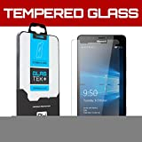 SOJITEK Microsoft Lumia 950 Premium Ballistic Tempered Glass Screen Protector with Lifetime Replacement Warranty - HD Ultra Clear Clarity & Touchscreen Accuracy Smart Film 0.33mm thinness