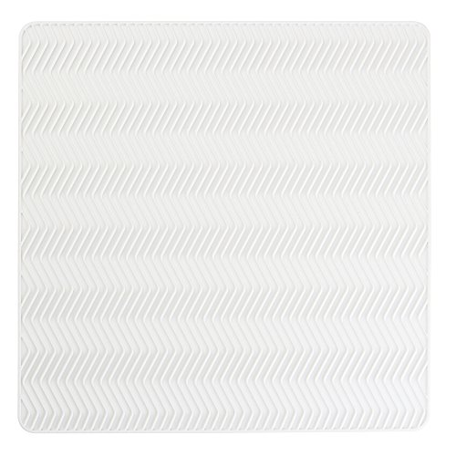 Mat White Counter - InterDesign Chevron Kitchen Silicone Countertop Dish Drying Mat - Medium, White