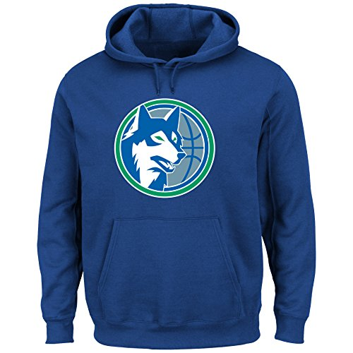 NBA Minnesota Timberwolves 1989-95 Men's Tek Patch Fleece, Royal, X-Large (Nba Mens Sweatshirts)