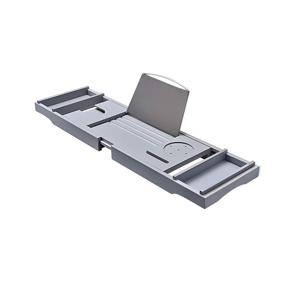 XSJZ Bathtub Rack, Telescopic Multi-Purpose Anti-Skid Rack Gray for Bathroom Bath Tub Bracket by GYL Bathtub shelf (Image #1)