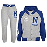 A2Z 4 Kids GIRLS BOYS TRACKSUIT N ATHLETIC NEW YORK VARSITY HOODIE BOTTOM JOG SUIT JOGGERS AGE 2-13 YEARS