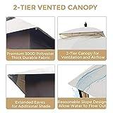 AsterOutdoor 10x12 Outdoor Gazebo for Patios Canopy