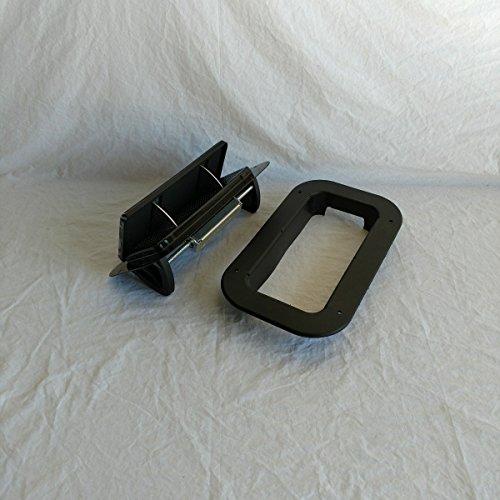 Roof Vents Air (Black Aluminum Low Profile Popup Air Flow Roof Vent Trailers, RV, Trim Ring & Gasket)