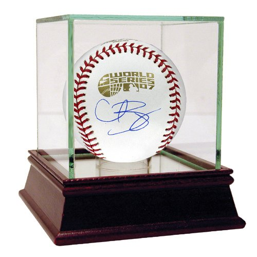 MLB Boston Red Sox Curt Schilling 2007 World Series Signed Baseball (World Signed Series 2004 Baseball)