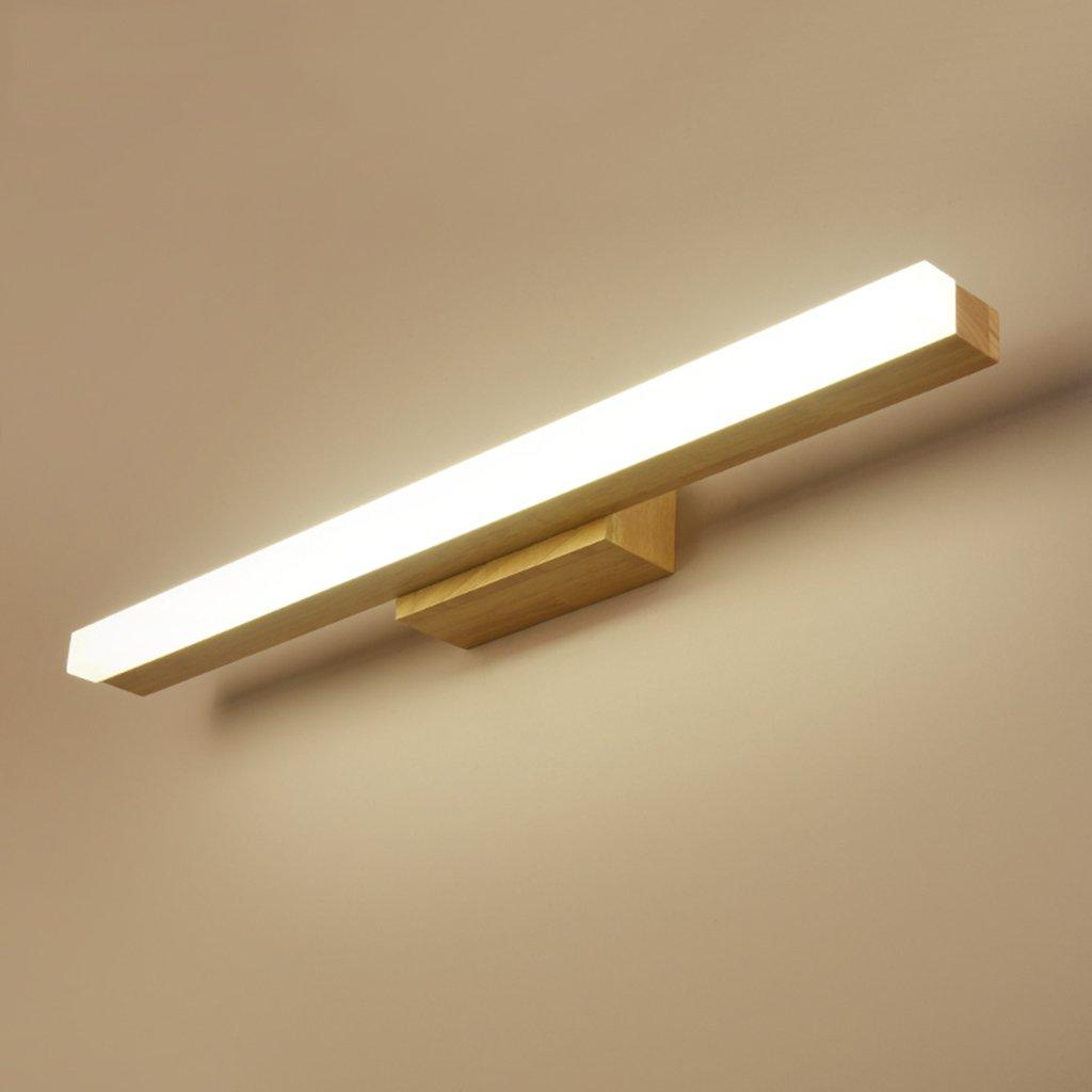Kreative Holz Kunst Spiegel Frontleuchte Moderne LED Kleiderschrank Dressing Cabinet Spiegel Licht Spiegel Leuchte (Größe   40 cm)