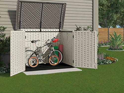 Suncast Stow Away Horizontal Storage Shed Outdoor