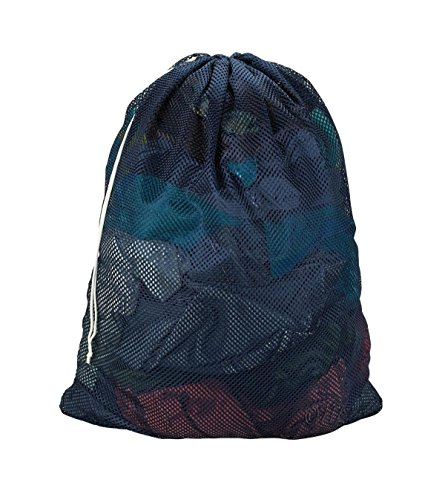 Easy-W Navy Blue-24'' x 36'' Commercial, Heavy Polyester Mesh Laundry Bag - Made in USA by Easy-W