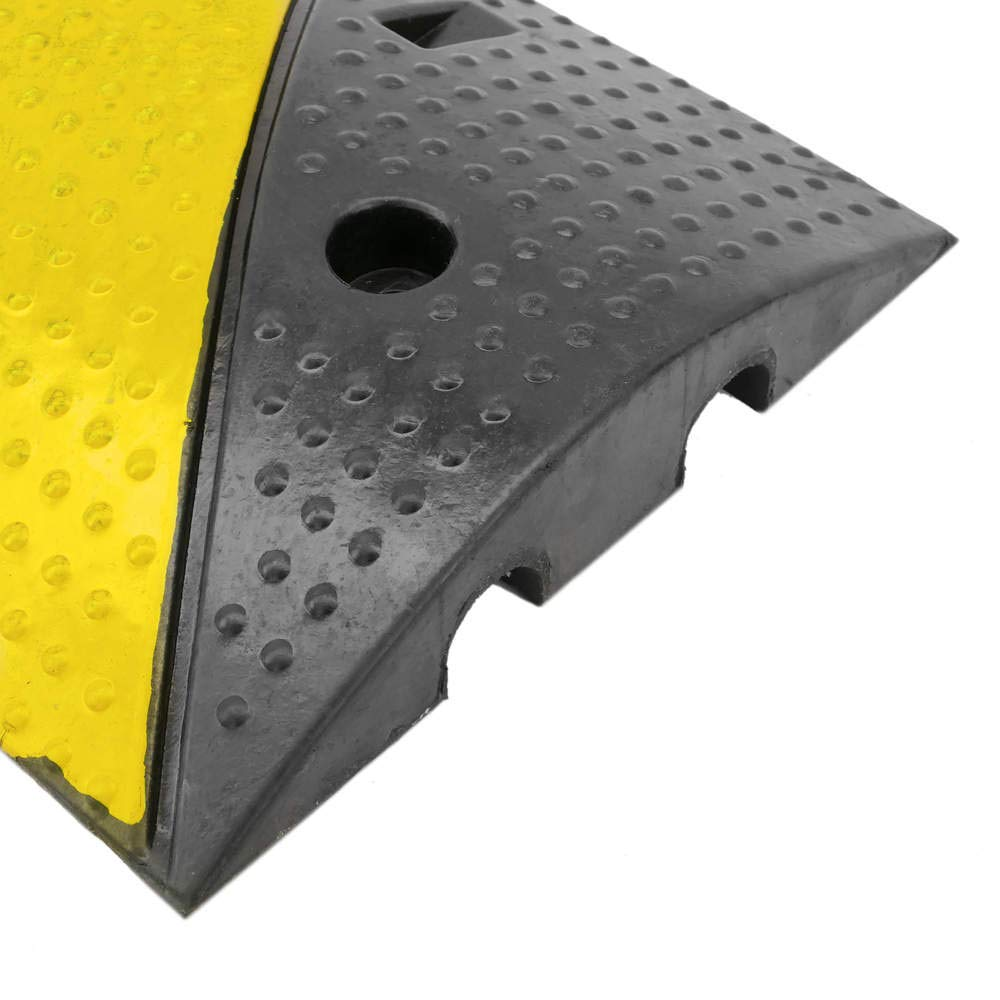 PrimeMatik Cable floor cover protector trunking rubber bumper 2 way 99x30cm with speed hump