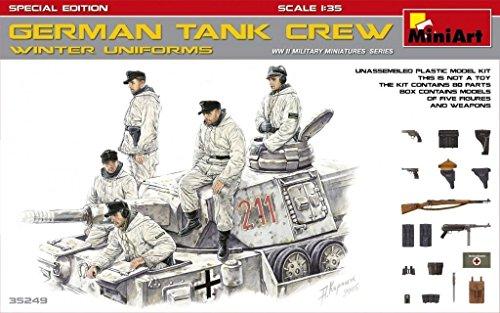 MINIART 35249 1/35 SCALE MODEL KIT GERMAN TANK CREW IN WINTER UNIFORMS LIMITED