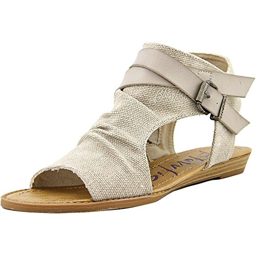 Blowfish Womens Balla Birch Rancher Canvas/Mushroom Dyecut PU Sandal, (7.5)