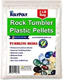 Plastic Pellets Rock Tumbling Media (2 LBS) for