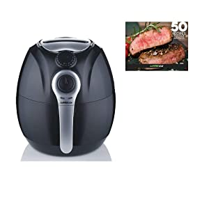 GoWISE USA 3.7-Quart Dial Control Air Fryer + 50 Recipes for your Air Fryer Book