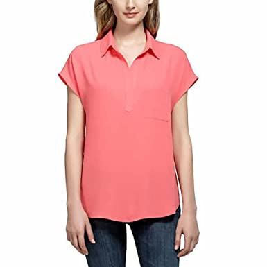 04f4d57a10bfe Pleione Ladies  Short Sleeve Blouse at Amazon Women s Clothing store