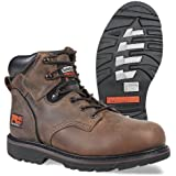 """Timberland Men's Pit Boss 6"""" Soft Toe Work Shoes, Gaucho Oiled Full Grain,9.5 W US"""