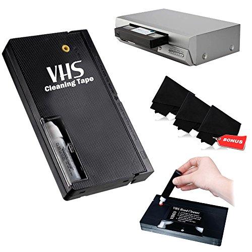- VHS Video Wet Head Cleaner Tape + 3 Microfiber