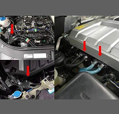 adaptateur dentonnoir dhuile de voiture Remplir Set plus pivotant Offset tube Delaman 10 Pcs Moteur de voiture Huile d/éversement preuve entonnoir de remplissage ensemble Kit dentonnoirs dhuile