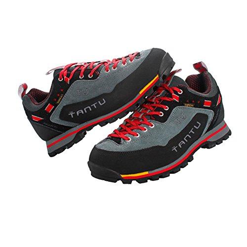 escalade Chaussures respirantes Chaussures montagne etanches Hommes en randonnee Showlovein Chaussures de Rouge de xI8UqgTn