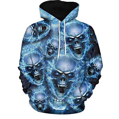 (GOVOW Halloween Costumes for Women Men Pumpkin Costume Women Men Wolf Digital Printing Hoodie Sweater Holloween Baseball Coats Sweats Halloween Costumes for)