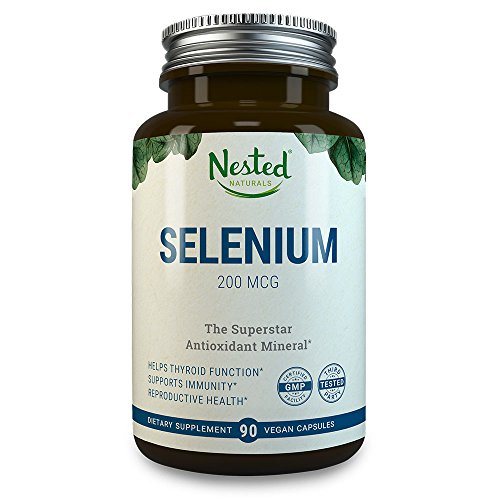 Selenium 200mcg | 90 Vegan Capsules | Pure & Yeast Free Selenomethionine | Support Thyroid Function, Heart Health + Reproductive and Immune System | Essential Trace Mineral & Antioxidant Supplements