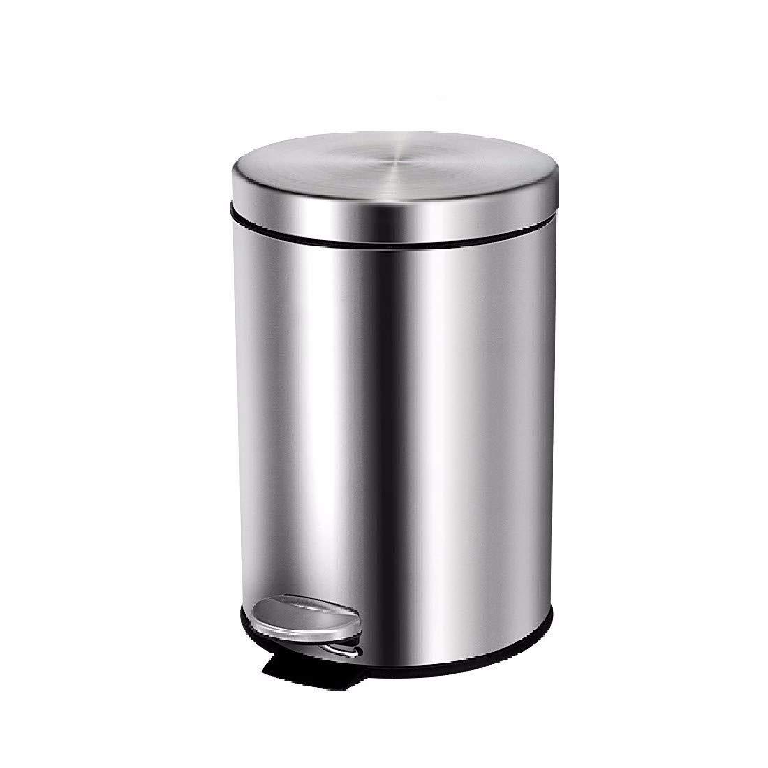 ZPSPZ cubos de Acero basura Pie de Acero de Inoxidable Cubo de Basura hogar Cocina Living baño muda Cinta Cover,B d76dd9