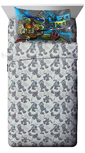 Nickelodeon Teenage Mutant Ninja Turtles 'Cross Hatching' Soft Microfiber Twin 3 Piece Sheet Set for $<!--$19.99-->
