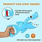 Bammax Baby Bath Toys, Shark Grabber Baby Bath Time Toy Bathtub Toy Set, Shark Bath Toy Game for 1-2-3-4 Year Old…