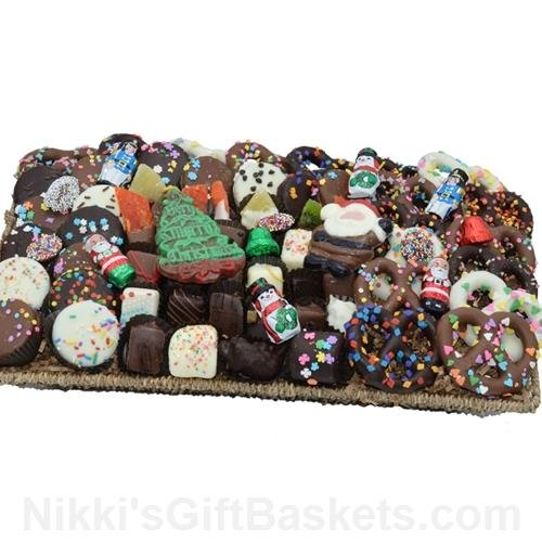 Extra Large Basket of Handmade Holiday Chocolates by The Gift Basket Gallery
