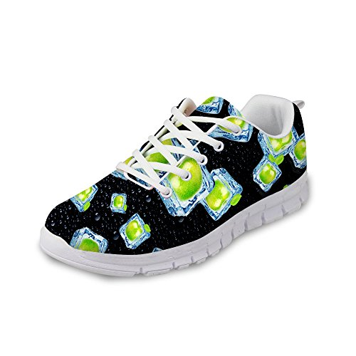 FOR U DESIGNS Stylish Womens Fashion Sneaker Lace-Up Breathable Sturdy Running Shoes Black 6 noVOYnCrC2