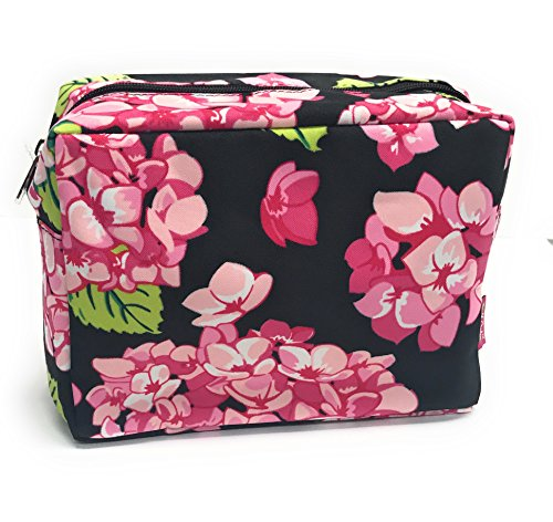 (N. Gil Large Travel Cosmetic Pouch Bag (Black)