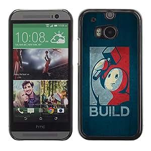 Stuss Case / Funda Carcasa protectora - Build - Retro Poster - HTC One M8
