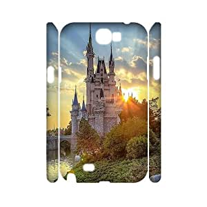 Custom Disney 3D Cover Case, Custom Hard Back Phone Case for Samsung Galaxy Note 2 N7100 Disney