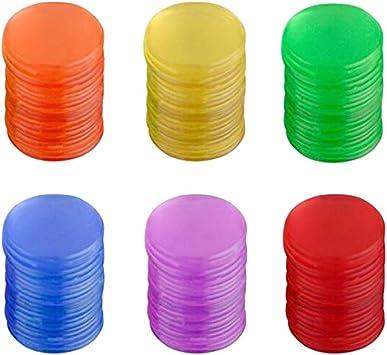 Toyvian 300 Colorido Marcador de Plástico Chips Fichas de Bingo para Juego de Bingo Accesorios de Juego: Amazon.es: Juguetes y juegos