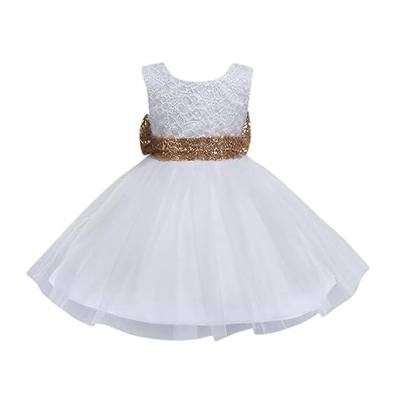 Btruely Herren ropa bebé Cotton Blend Vestidos para Niña sin mangas Verano Vestidos Floral princesa fiesta Vestido de novia para Cumpleaños Dress: ...