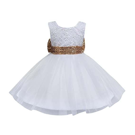 6f4142b7e Btruely Herren 🍁 Ropa bebé Cotton Blend Vestidos para Niña sin Mangas  Verano Vestidos Floral Princesa