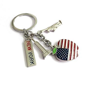 Amosfun Bandera Americana Llavero Colgante de Metal Colgante ...