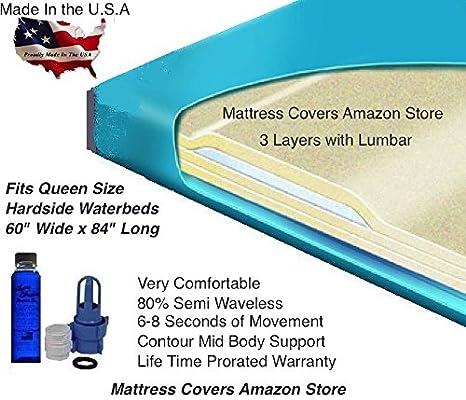 United State Water Mattress Queen 3000 L 80% Semi Waveless - Colchón con Kit de Relleno y acondicionador de 113 ML: Amazon.es: Juguetes y juegos