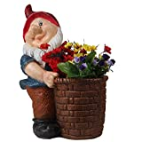 Wonderland 14 Inches Gnome / Dwarf Planter / Pot Right (Garden Decor, Gifting , Balcony)