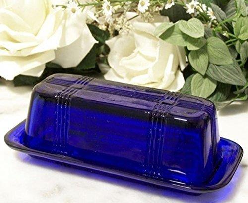Cobalt Blue Dishes - DREAM HOME DECORATING Butter Dish Cobalt Blue Glass