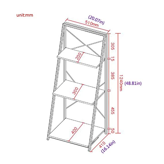 Amazon.com: Jcnfa-Shelves Trapezoid Estantería Plegable ...