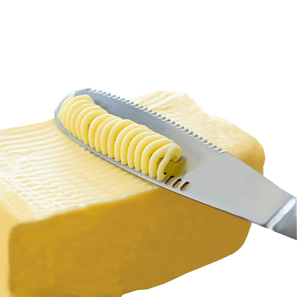 Stainless Steel Butter Spreader Knife - 3 in 1 Kitchen Gadgets, Curler, Slicer, Shave And Butter Grater! The Butter Knife Magic Slicer Is A Perfect Butter Slicer For Your Bread Slicer or Bagel Slicer by Simple Spreading