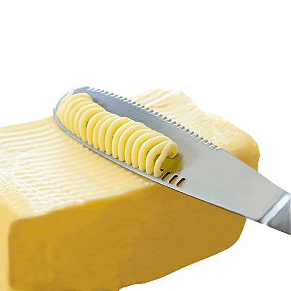 Stainless Steel Butter Spreader Knife   3 In 1 Kitchen Gadgets, Curler, Slicer, Shave And Butter Grater! The Butter Knife Magic Slicer Is A Perfect Butter Slicer For Your Bread Slicer Or Bagel Slicer by Simple Spreading